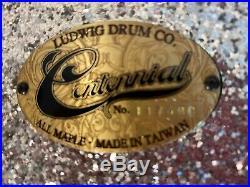 LUDWIG Bonham Sized 4 piece Maple Drum Set in Silver Flake Hardly Used