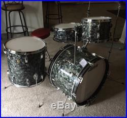 Ludwig 1968 4pc Super Classic Drum Set Black Diamond Pearl BDP