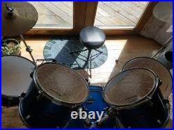 Ludwig Accent CS Combo Drum Set Electric Blue
