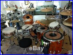 Ludwig Amber Vistalite Drum Set John Bonham reissue