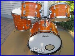 Ludwig Big Beat 12 13 16 22 Drum Set Mod Orange Keystone Vintage 1968