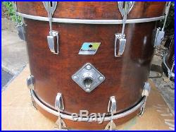 Ludwig Big Beat 4 Pcs Drum Set Mahogany Thermo Gloss Blue & Olive Vintage 1972