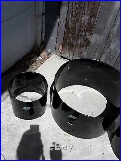 Ludwig Black Vistalite Drum Shells set 3 22 x 14, 12 x 8, & 13 x 9 b/o badge