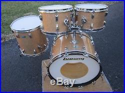 Ludwig Classic Big Beat Drum Set 12 13 16 22 Champagne Sparkle B/o Vintage 1972