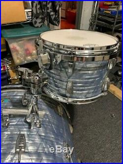 Ludwig Classic Maple 3pc Drum Set Sky Blue Pearl Very Good condition