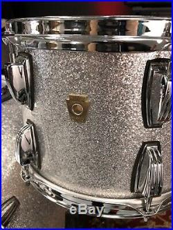 Ludwig Classic Maple 3pc Silver Sparkle Drum Set 24,16,12
