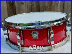 Ludwig Classic Maple 4-Piece Drum Set-Red Sparkle 14,14, 18, & 24 Bonham Sizes