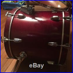 Ludwig Classic Maple 4 Piece Mahogany Drum Set 1993 Made In USA