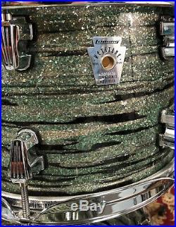 Ludwig Keystone Mint Oyster Glass Glitter 4pc Drum Set