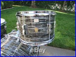 Ludwig Vintage Clubdate 1966 Black Oyster Drum Set #18