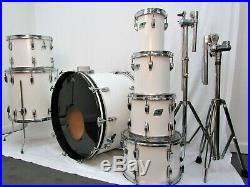 Ludwig Vintage Drum Set White Cortex 1970's