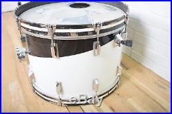 Ludwig Vistalite Pattern E black & white swirl vintage drumset kit-used drums