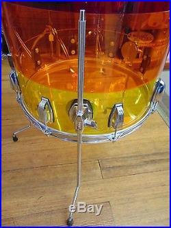 Ludwig Vistalite Tequila Sunrise Drum Set 3 Piece 22 13 16