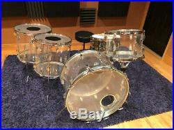 Ludwig Vistalite drum set Clear