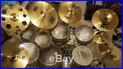 MX Pearl Off White 8 piece Accoustic Drum Set with Cymbals and Hardware