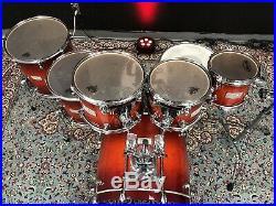 Mapex Saturn Cherry Burst 7pc Drum Set