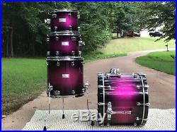Mapex Saturn Signature Series Electric Berry Burst Drum Set Excellent Condition