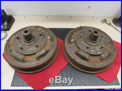 Original 1940-48 Ford Flathead Rear Brake Drum Set Good Condition