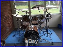 Pdp X7 7piece Maple Drum Set Withcymbals And Hardware Used Drum Sets