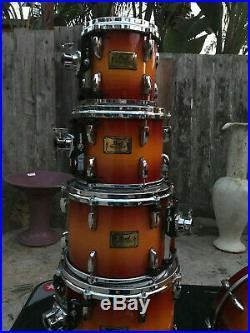 PEARL Master Studio Birch 7pc Sunburst Drum Set kit