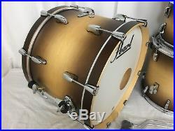 Pearl Masters Complete MCT 4 Piece Drum Kit W-13 Snare/#351/Satin Natural Burst