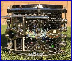 Pearl Masterworks 8 Piece Mint Condition Pro Drum Set Pro Bonus DW BRONZE SNARE