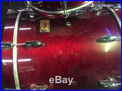 Pearl masters birch 3 piece drum set