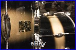 Pork Pie Hip Pig 4-piece Gold Duco Mahogany Drum Set (12-14-20-14x6.5) Used