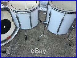 Premier Resonator White Lacquer 24-12-14-16 Drum Set