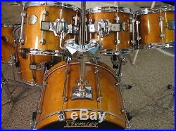 Premier SIGNIA 7 pce drum set GORGEOUS and SOLID ALL MAPLE REASONABLE $$$