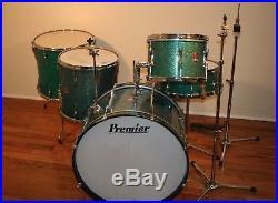 Premier Vintage Drum Kit Set. 22/12/14/16/14 Snare. Hardware/Cyms/Extras 1960's