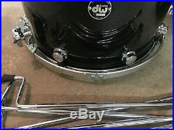 Rare Custom 1990s DW Superman's Hair Black / Blue Flake Drum Set Collectors
