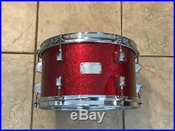 Red Sparkle Custom OCDP Orange County Drums & Percussion 4 pc Drum Set pre GC