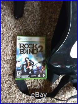 Rock Band Xbox 360 bundle 1 game, 2 guitars wireless, drum