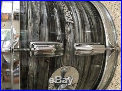 Rogers Buddy Rich Headliner Drum Set 20, 12, 16 Black Strata