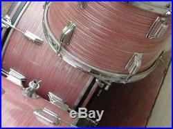 Rogers Holiday Drum Set WINE RED RIPPLE Pearl 22/20/12/13/13/16 WOW PINK