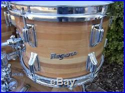 Rogers Swivomatic 4 Pc Drum Set Set Block Wrap Vintage 1972 Excellent