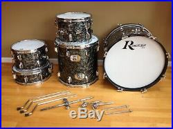 Rogers Top Hat Vintage Drum Kit, Beautiful Matching Set, Early 1960's