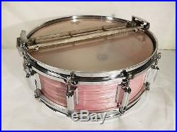 Rogers WINE RED RIPPLE Dyna-Sonic Dynasonic Snare Drum Cleveland RARE 4 set