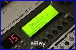 Roland V Drum TD20 complete electronic drum set HUGE KIT