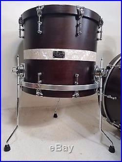 SJC Custom Drums 3pc Drum Set 22,18,12 Wood Hoops MINT