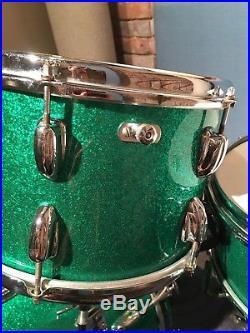 SLINGERLAND 60s Vtg Bop Drum Set Kit 8x12 14x14 14x18 Snare Hollywood Ace 4-Pc