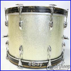 Slingerland 22x14,13,16 Drum Set Silver Sparkle Vintage 60s 3Ply Bass/Tom/Floor