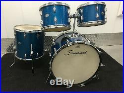 Slingerland Blue Sparkle 70's 12x8,13x9,16x16,22x14 3 ply Maple Drum Set Kit