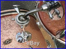 Slingerland Drum Set Pink Sparkle 20 13134131 16 Vintage 1960's Rare Color