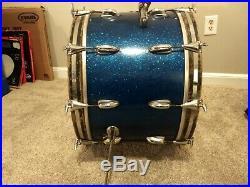 Slingerland Vintage 62/65 Blue sparkle 3 Pc. Drum Set 3-ply Maple 22,16,13
