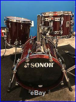 sonor designer drumset used drum sets. Black Bedroom Furniture Sets. Home Design Ideas