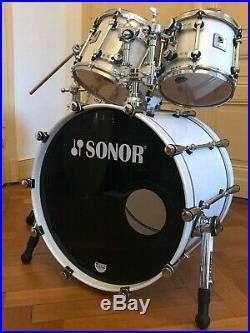 Sonor Designer Ice Sparkle Drumset Shellset 22,10,12,14 plus Ständer! Maple light
