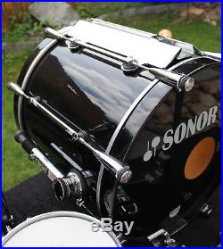 Sonor Designer Maple Light shell set piano black Finish 10,12,14FT, 20BD