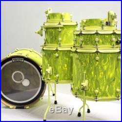 Spaun Custom Maple Antifreeze 7-piece Drum Set with CASES